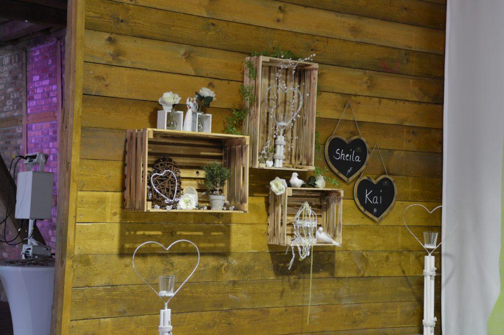 Foto Scheunenwand Eventscheune bei Hochzeit