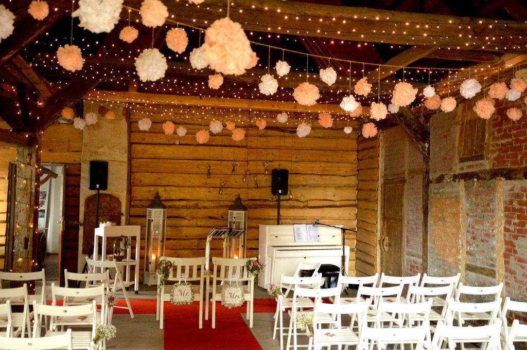 Foto Hochzeitsscheune Landhaus Westerhof Rosengarten