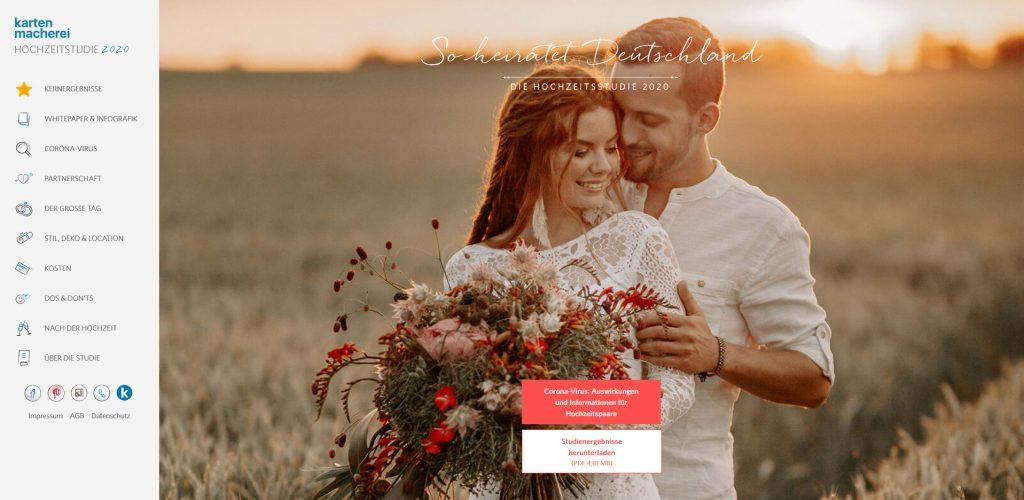 Foto Hochzeitsstudie der kartenmacherei. Blogartikel Dating App und freie Trauung